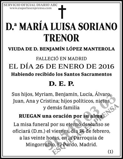 María Luisa Soriano Trenor